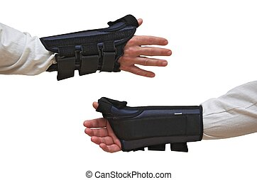 Wrist and Thumb Brace / Splint (front + back views) - Wrist...