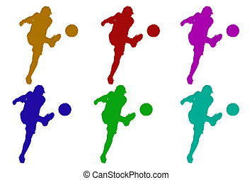 Furry Soccer Silhouettes
