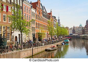 Singel canal, Amsterdam - Singel canal of Amsterdam,...