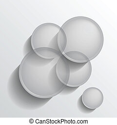 Grey circles group - Abstract background with transparent...