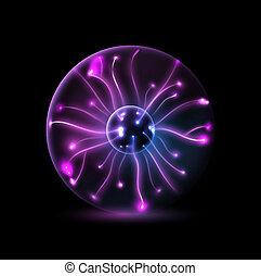Plasma sphere - Abstract plasma sphere. Illustration...
