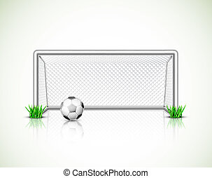 Soccer goal and ball - Isolated soccer goal and ball...