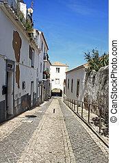 Arched entraceway in Lagos, Algarve, Portugal - Moorish...