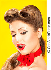 Pin-up girl in american style