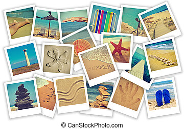 summer on the beach collage - a collage of some pictures of...