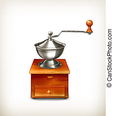 Coffee grinder, vector