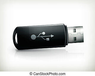 USB flash drive, vector