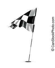 Checkered golf flag, vector