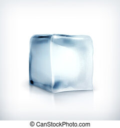 Ice cube, vector