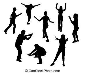 Party - Group of people are dancing at a party. EPS file...