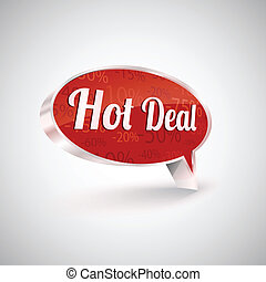 Hot deals vector icon,  illustration