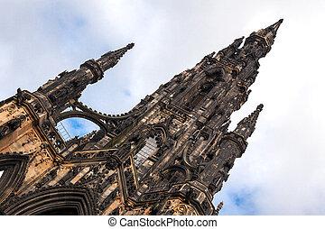 Scott Monument in Edinburgh Scotland - The historic Scott...