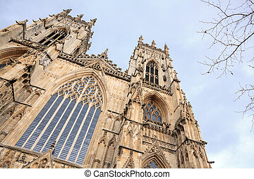 York Minster Castle and Cathedral at York England UK