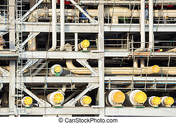 LNG Factory - Assembling of liquefied natural gas Refinery...