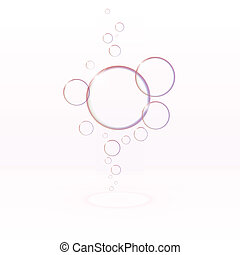Transparent soap bubbles, eps10 vector - Transparent soap...