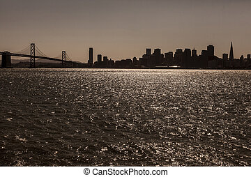 San Francisco Skyline - Skyline of San Francisco during...