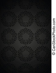 Patterns over black background - Ottoman patterns over black...
