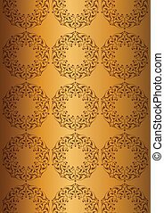 Patterns over golden background