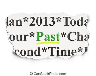 Timeline concept: Past on Paper background - Timeline...
