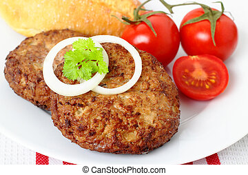 beefsteak - grilled beef steak with tomatoes and fresh...