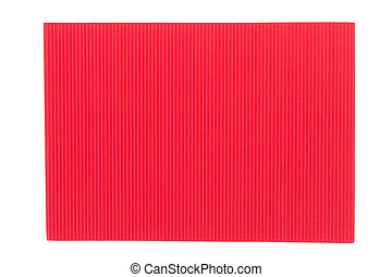 Red corrugated cardboard texture