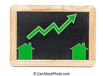 barra, gráfico, Crecimiento