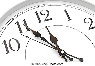 wall clock five minutes to twelve