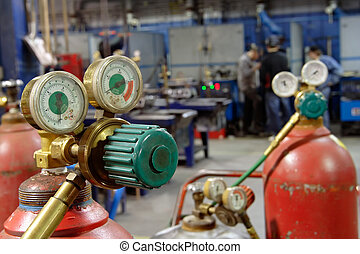 Welding shop - Welding equipment in a shop