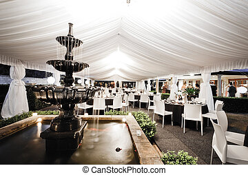 Wedding venue interior with fountain - Wedding venue...