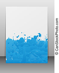 Greeting card with paint splashes.