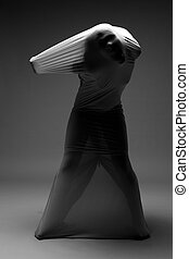 Scary Horror Image of a Woman Trapped in Fabric - Horror...