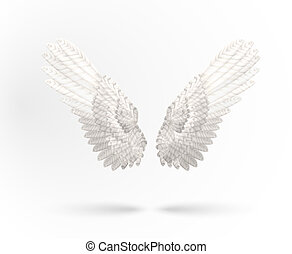 White wings - Vector White Angel wings isolated on white...