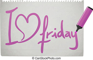 Love Friday - Creative design of love Friday