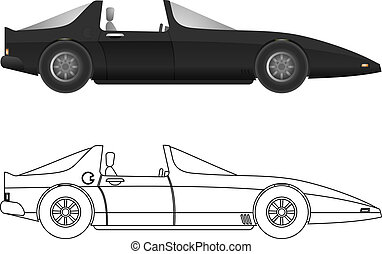 Convertible car - Creative design of convertible car