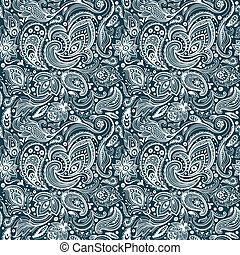 Beautiful paisley seamless