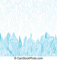 Abstract frost swirls texture horizontal seamless pattern...