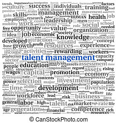 Talent management in word tag cloud - Talent management...