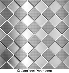 Metal silver checked pattern - Metal silver checked pattern...