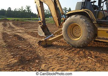 construção, cavador