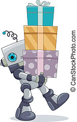 Robot Carrying Gifts