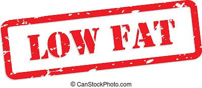 Low Fat Rubber Stamp - Low fat red rubber stamp vector for...