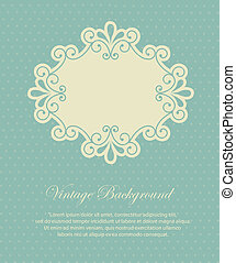 frame vintage - frame design over vintage background vector...