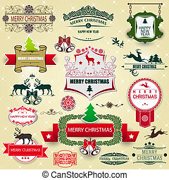 Christmas decoration collection - Vector image of Christmas...