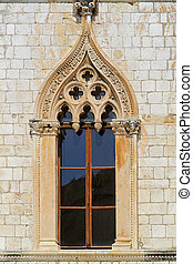 Dubrovnik window - Window at medieval royal house in...