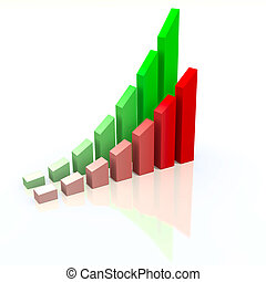Abstract chart with increasing measures of success, business...