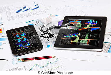 Tablet PC and ipad - Image of ipad and tablet pc with...