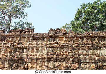 Terrace of the elephants, Angkor Thom, Siemreap