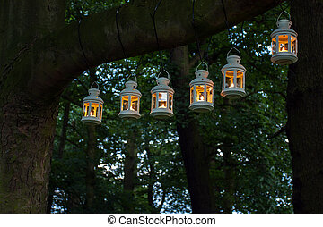 Outdoor party night illumination - Night party in the park....