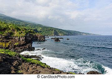 maui, 崖, ハワイ \
