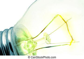 Turn on tungsten light bulb.Isolated. - Turn on tungsten...